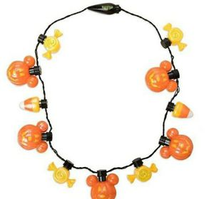 Disney Mickey mouse Halloween pumpkins glow lights necklace for Sale in Rialto, CA