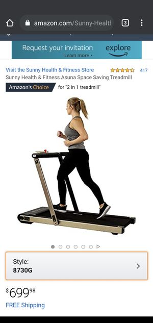 Sunny Health & Fitness Asuna Space Saving Treadmill for Sale in Vernon, CA