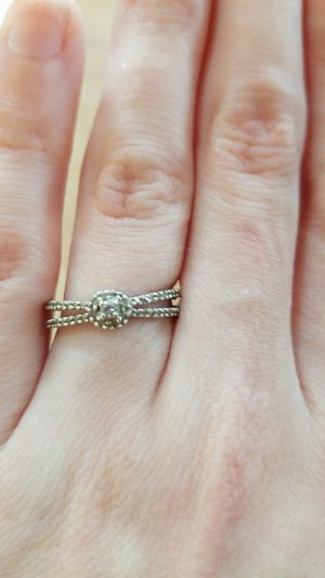Small diamond and silver promise/engagement ring for Sale in Mount Oliver, PA