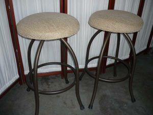 "2 Backless Swivel Metal Bar Stools 30"" to the Seat for Sale in Peoria, AZ"