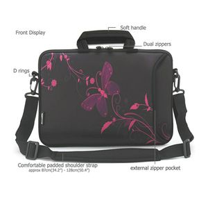 RICHEN 14 15 15.4 15.6 inch Laptop Shoulder Bag Messenger Bag Case Notebook Handle Sleeve Neoprene Soft Carring Tablet Travel Case, Accessories Pocket for Sale in Riverside, CA