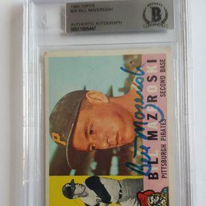Bill Mazeroski 1960 Topps Autographed Card for Sale in Marietta, GA