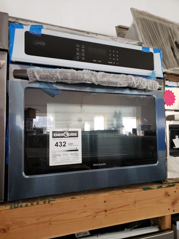 """NEW ! FRIGIDAIRE GALLERY 30"""" BLACK STAINLESS STEEL ELECTRIC SINGLE WALL OVEN"""