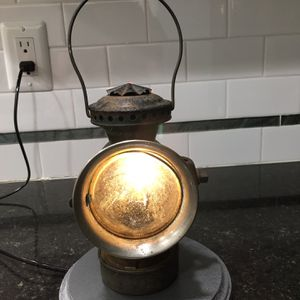 Antique 1904 Dietz Eureka Buggy/car Lamp Clear and Red Lemse for Sale in Fairfax, VA