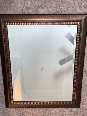 Beautiful brown/bronze framed mirror. for Sale in Brighton, CO