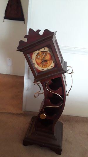 Antique wine rack clock for Sale in Wildomar, CA