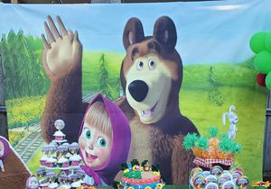 8x6 ft Vinil Masha and the bear background for Sale in Tampa, FL