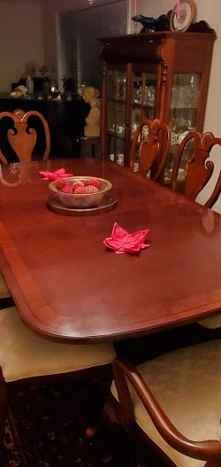 Stunning Dining Room Set (Table, Chairs, China and Serving Cabinets) for Sale in Seattle,  WA