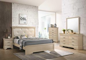 BEDROOM SET BRAND NEW! BED, MATTRESS , NIGHT STAND, DRESSER WITH MIRROR! for Sale in Coral Gables, FL