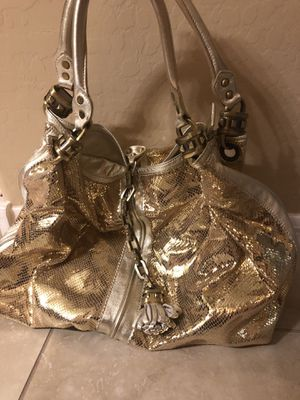 Shiny gold BEBE tote bag for Sale in Litchfield Park, AZ