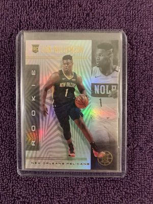 Zion Williamson ROOKIE card * holographic* for Sale in Roseville, CA