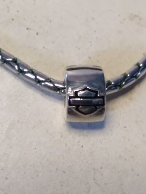 Sterling silver Harley Davidson pendant with chain for Sale in Willow Street, PA