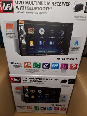 """NEW STEREO DVD MULTIMEDIA RECEIVER,MONITOR TOUCH SCREEN 6.2"""",BLUETOOTH,MICROPHONE,AUX,USB,NAVIGATION APP BACKUP CAMARA ADAPTER for Sale in Kissimmee, FL"""