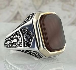 MENS RED AGATE 925 RING SIZE 10 for Sale in Miami, FL