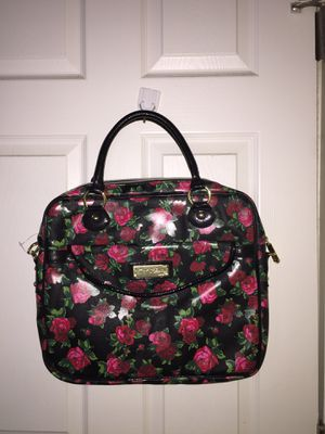 Brand new Betsey Johnson bag/ crossbody purse rose comic book movie suitcase desk chair hair body care shirt pants clothes car kids toys baby things for Sale in Tampa, FL