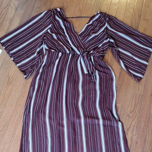 Bailey Blue Burgundy Striped Dress XL for Sale in Abington, PA