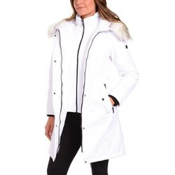 Madison Expedition Ladies Long Parka White Medium Faux Fur Hood for Sale in Huntington Park,  CA
