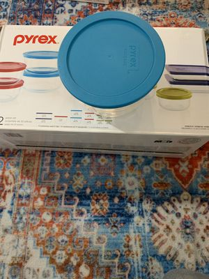 Pyrex 22 piece glass storage jars container set. (Brand new, never used) for Sale in Fullerton, CA