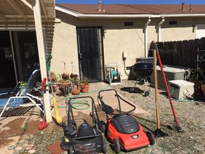 2 Black & Decker electric lawn mowers, edger, weed wacker,Aerator and tamper all for $100! for Sale in Oceanside, CA