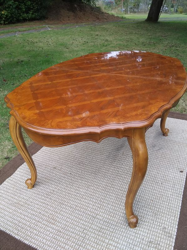 Elegant formal dining room table - delivery available