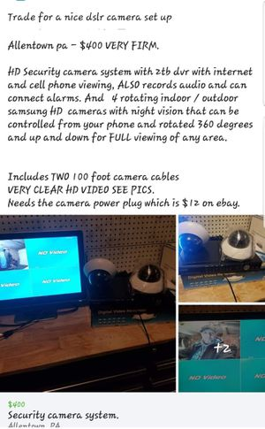Home security camera system for trade for Sale in Allentown, PA
