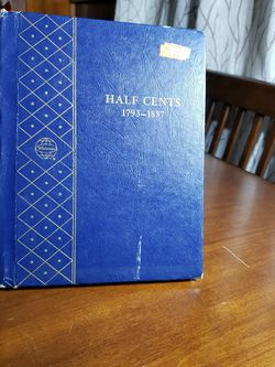 FREE RARE VINTAGE WHITMAN BOOKSHELF HALF CENTS 1793-1857 ALBUM for Sale in Santa Ana,  CA