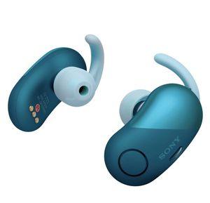 Sony - WF-SP700N Sport True Wireless Noise Canceling Earbud Headphones - Blue ( WFSP700 ) for Sale in Garland, TX