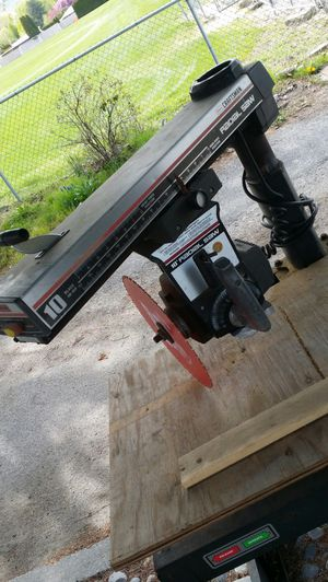 Craftsman Radial saw and Rotary Bench for Sale in Wenatchee, WA