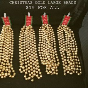 CHRISTMAS GOLD LARGE BEADS NEW for Sale in Phoenix, AZ