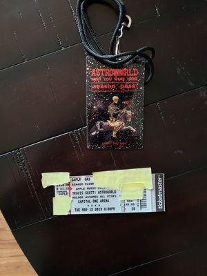 Travis Scott GA (floor) 1 ticket for Sale in Alexandria, VA