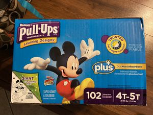 Huggies Pull-Ups Training Pants for Boys Size: 4T-5T 102 Count for Sale in Phoenix, AZ