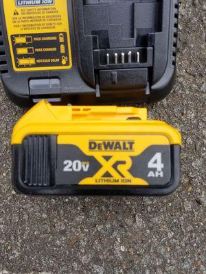 New dewalt 20v MAX XR 4.0ah battery and charger for Sale in Ashburn, VA