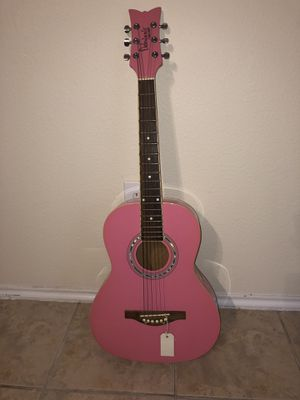 Pink acoustic guitar! for Sale in San Antonio, TX