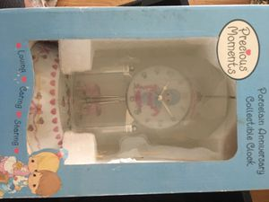 Precious moments porcelain anniversary collectible clocks for Sale in Lacey Township, NJ