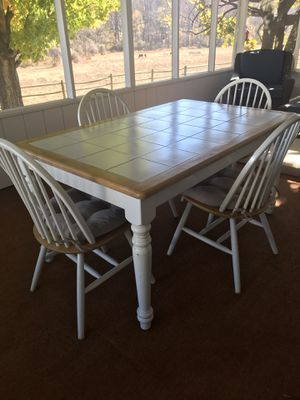 Tile top farm kitchen table and chairs for Sale in The Plains, VA