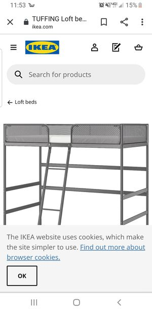 IKEA Twin Tuffing Bunk Bed with Mattress for Sale in Goodyear, AZ
