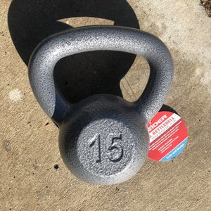 15 Lb Kettle Bell Kettlebell Weight (One Only) for Sale in Perris, CA