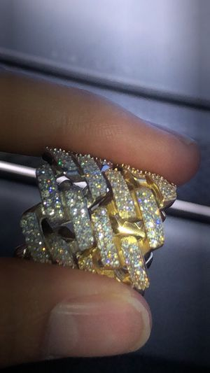 New solid Cuban link diamond ring for Sale in Redondo Beach, CA