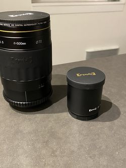 500mm OPTEKA Camera lens With Nikon Mount And 2X Telephoto Converter for Sale in Seattle,  WA
