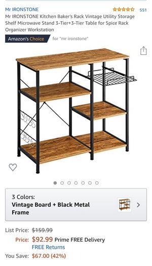 Mr Ironstone kitchen bakers rack/storage shelf for Sale in Houston, TX