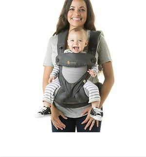 Ergobaby Four-Position 360 Cool Air Baby Carrier in Carbon Grey-Used for Sale in Las Vegas, NV