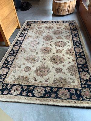 Handmade Indian Rutherford 5' x 8' area rug - 100% wool for Sale in Mercer Island, WA