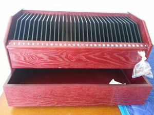 Cherry wood CD holder with drawer for Sale in West Palm Beach, FL