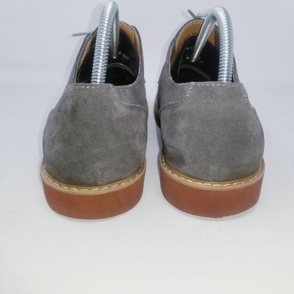 St. John's Bay Dark Gray Suede Oxfords Size 10.5