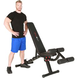 2000 Super Max XL Adjustable Utility FID Weight Bench with Detachable Leg Lock-Down Home Gym Workout Equipment for Sale in Los Angeles,  CA
