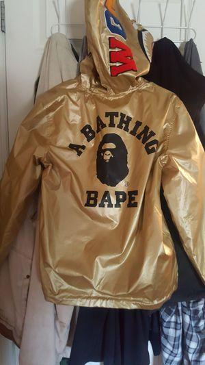 Bape Gold Reversable Jacket for Sale in Brighton, CO