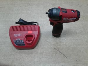 """Milwaukee 2452-20 M12 FUEL 12V Li-Ion Brushless Cordless 1/4"""" Impact Wrench Kit for Sale in Baltimore, MD"""