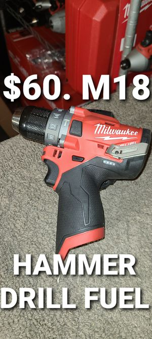 Milwaukee hammer drill fuel m12 for Sale in Fontana, CA