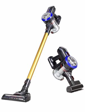 Dibea D18 Lightweight Cordless Stick Vacuum Cleaner, 9000pa Powerful Suction Bagless Rechargeable 2 in 1 Handheld Car Vacuum with Mite Brush, Gold for Sale in Springfield, VA