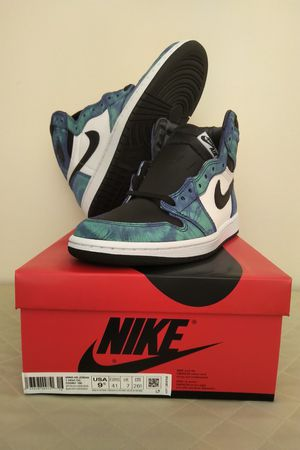 Nike Air Jordan Retro 1 High OG, Tie Dye, Women's Size 9.5 (8 M), style: CD0461-100 for Sale in Enfield, CT
